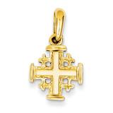 Jerusalem Cross Charm 14k Gold D1659