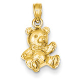 Teddy Bear Charm 14k Gold D1725