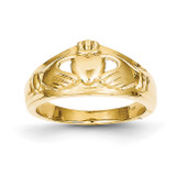 Ladies Claddagh Ring 14k Gold Polished D1853