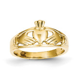 Ladies Claddagh Ring 14k Gold Polished D1857