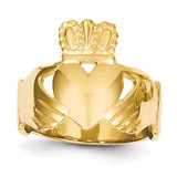 Ladies Claddagh Ring 14k Gold Polished D1865