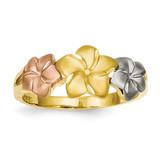 Plumeria Ring 14k Tri-Color Gold D1888