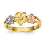 Plumeria Ring 14k Tri-Color Gold D1889