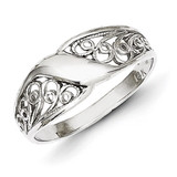 Filigree Ring 14k White Gold D1891