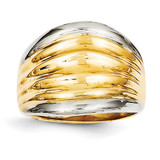 Fancy Dome Ring 14K Gold & Rhodium D1899