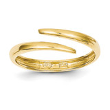 Bypass Ring 14k Gold Polished D1916