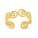 Scroll Toe Ring 14k Gold D1943