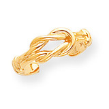 Love Knot Toe Ring 14k Gold D1958