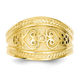 Scroll Ring 14k Gold Polished D224