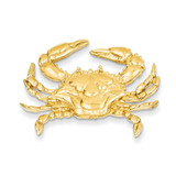 Blue Crab Slide 14k Gold D2851
