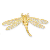 Cut-out Dragonfly Slide 14k Gold D2882