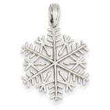 3-D Snowflake Pendant 14k White Gold D2923