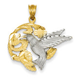 Hummingbird Charm 14k Two-Tone Gold D293A