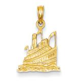 Cruise Ship Pendant 14k Gold D2966