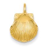Seashell Pendant 14k Gold D2992