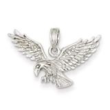 Eagle Landing Pendant 14k White Gold D3047