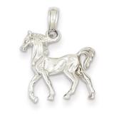 3-D Horse Standing Pendant 14k White Gold D3049