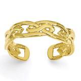 Weave Toe Ring 14k Gold D3090