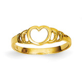 Heart Baby Ring 14k Gold D3123
