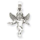 Guardian Angel Pendant 14k White Gold D3297