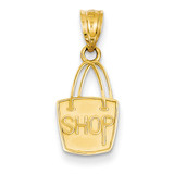 14K Yellow Gold Charm Pendant Themed 8.9 mm 13.4 Born To Shop