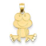 Frog Charm 14k Gold D3339