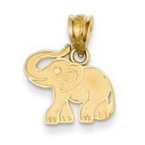 Elephant Charm 14k Gold D3346