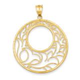 Circle Pendant 14k Gold D3355