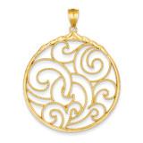 Circle Pendant 14k Gold D3356