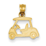 Golf Cart Charm 14k Gold D3359