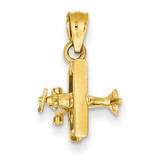 Airplane Pendant 14k Gold D3409