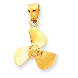 Propeller Pendant 14k Gold D3420