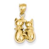 Cat Pendant 14k Gold D3437