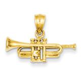 Trumpet Pendant 14k Gold D3438