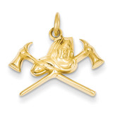 Fire Department Charm 14k Gold D3448