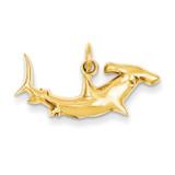 Hammerhead Shark Charm 14k Gold D3450