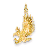 American Bald Eagle Charm 14k Gold D3460