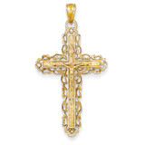 INRI Crucifix Pendant 14k Gold D3648
