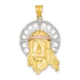 Diamond-cut Christ Pendant 14k Tri-Color Gold D3704