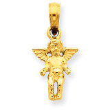 Small Guardian Angel Pendant 14k Gold D3719