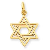 Jewish Star Charm 14k Gold D3802