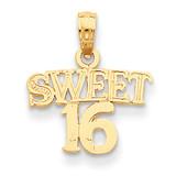 Sweet 16 Pendant 14k Gold D3912