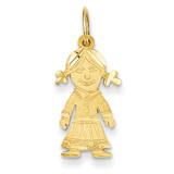 Girl Charm 14k Gold D394