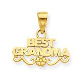 Best Grandma Pendant 14k Gold D3957