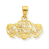 Best Grandma Pendant 14k Gold D3958