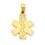 Paramedic EMT Symbol Pendant 14k Gold D4072