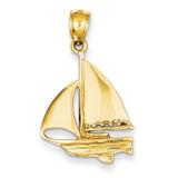 Sailboat Pendant 14k Gold D4155