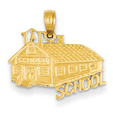 School House Pendant 14k Gold D4180