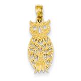 Owl Pendant 14k Gold D4199