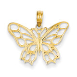 Butterfly Cut-out Pendant 14k Gold D4202